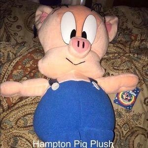 Vtg Tiny Toon Hampton J Pig Plush
